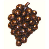 Whimsical Collection 1-3/4'' Wide Grapes Cabinet Knob in Antique Brass, 1-3/4'' W x 7/8'' D x 2-1/4'' H