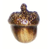 Leaves & Trees Collection 1'' Wide Small Acorn Cabinet Knob in Antique Brass, 1'' W x 7/8'' D x 1-1/4'' H