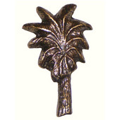 Tropical Collection 1-5/8'' Wide Single Palm Tree Cabinet Knob in Antique Brass, 1-5/8'' W x 7/8'' D x 2-5/8'' H