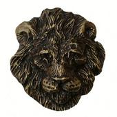 Safari Collection 1-3/4'' Wide Lion Cabinet Knob in Antique Brass, 1-3/4'' W x 1-1/16'' D x 1-7/8'' H