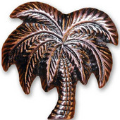 Tropical Collection 2'' Wide Palm Tree Cabinet Knob in Antique Brass, 2'' W x 5/8'' D x 2-1/8'' H