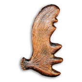 Wildlife Collection 2'' Wide Moose Antler Left Face Cabinet Pull in Antique Brass, 2'' W x 5/8'' D x 3-3/8'' H, Center to Center: 2-15/16''