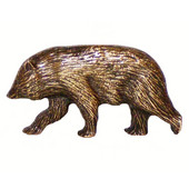 Wildlife Collection 2-1/4'' Wide Cub Left Face Cabinet Knob in Antique Brass, 2-1/4'' W x 3/4'' D x 1-1/8'' H