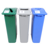 30'' Waste Watcher Recycling Bin, Dark Green