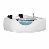 Ariel Platinum Whirlpool Bathtub with Hydro Massage System in White Finish, 79 Gallon Capacity, 60'W x 60'D x 30'H