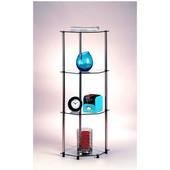 Classic Glass Series Four-Tier Corner Shelf
