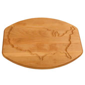 Reversible Solid North American Hardwood Cutting Board With USA Juice Groove in Oiled Finish