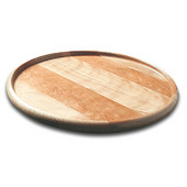 14'' Round Table Lazy Susan w/Lip and Lacquer Finish