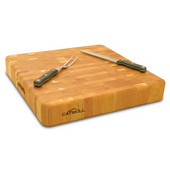 Slab Butcher Block Chopping Block, 18'' W x 18'' D x 3'' H