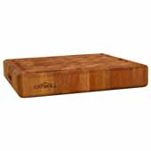 Slab End Grain Cutting Board with Juice Groove, 18''W x 18''D x 3''H