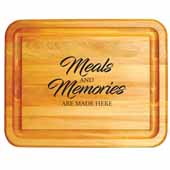 Meals and Memories Branded Cutting Board, 19''W x 15''D x 1''H