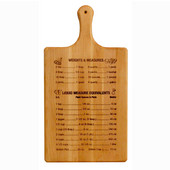 Branded Large Measurements & Liquid Equivalents Flat Grain Reversible Paddle Board in Oiled Finish, 11'' W x 21'' D x 3/4'' H