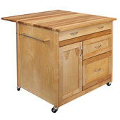Deep Drawer Kitchen Island, 40-1/4'' W x 38'' D x 34-1/2'' H