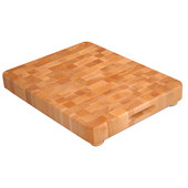 """Professional End Grain Cutting Board with Wooden Feet, 17'' W x 13"""" D x 2"""" thick"""