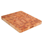 End Grain Chopping Block with Two Finger Slots, 21'' W x 17'' D x 2'' H