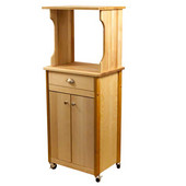 Hutch Top Cart with Enclosed Storage, 21'' W x 15-1/4'' D x 53''H