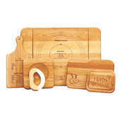 Ultimate Chef's Set Branded cutting boards, 5 Board Gift Set