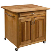 ''The Big Kitchen Island'' With Solid Back, 36''W x 30''D x 34-1/2'' H