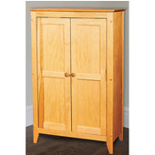 Double Door Jelly Cabinet with Flat Panel Wooden Doors, 30-1/4'' W x 14-1/2'' D x 48'' H