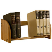 Tabletop Book Rack 18'' W x 7-3/4'' D x 7-3/4'' H, Lacquer Finish, Bumper Feet