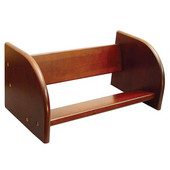 Tabletop Book Rack 18'' W x 7-3/4'' D x 7-3/4'' H, Walnut Finish, Bumper Feet