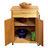 Cuisine Kitchen Cart w/ Drawers & Towel Rack, 25 1/8'' W x 17'' D x 34 1/2'' H