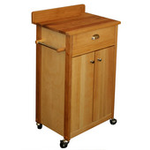 Promo Birch Cuisine Kitchen Deluxe Cart with Backsplash, 23-1/2'' W x 16'' D x 37'' H