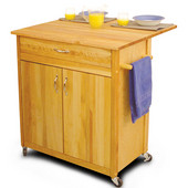 Cuisine Kitchen Island with Drop Leaf, 33 1/2'' W x 27 1/2'' D x 34 1/2'' H