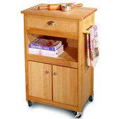 Cuisine Kitchen Cart with Open Storage, 22 1/8'' W x 15 1/4'' D x 34'' H