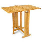 Fold-a-Way Butcher Block Table, 36'' W x 24'' D x 30'' H