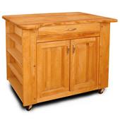 Deep Storage Kitchen Island w/ Special-Cut Contour Top, 40'' W x 26'' D x 34-1/2'' H