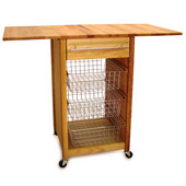 Drop Leaf Kitchen Cart, 40'' W x 20'' D x 34 1/2'' H