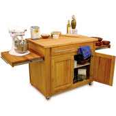 Empire Kitchen Island With Two Pull-Out Leaves, 44'' W x 26'' D x 36'' H