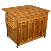 Deep Storage Workcenter Island with Drop Leaf, 44 5/8'' W x 38'' D x 34 1/2'' H