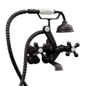Clawfoot Tub Wall Mount British Telephone Faucet with Hand Held Shower, Oil Rubbed Bronzel, 13''W x 12''D x 9''H