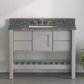 USA Patriot 48'' W Gray Single Sink Bathroom Vanity with Starry Composite Countertop, 48'' W x 22'' D x 36'' H