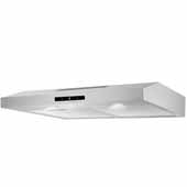 30'' Under Cabinet, Touch Sensitive Range Hood In Stainless Steel, 200 CFM, 29-3/8''W x 18-7/8''D x 3-7/8''H