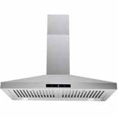 30'' Wall Mounted Touch Sensitive Range Hood In Stainless Steel, 400 CFM, 29-3/8''W x 18-7/8''D x 36''H
