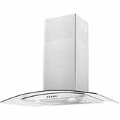 30'' Wall Mounted Canopy Range Hood In Stainless Steel, 400 CFM, 29-3/8''W x 18-1/2''D x 38-3/8''H
