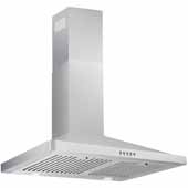 30'' Wall Mounted Range Hood In Stainless Steel, 400 CFM, 29-3/8''W x 18-5/16''D x 36-5/16''H