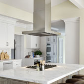 Z01-I36 Island Mount 36'' Range Hood In Brushed Stainless Steel, 35 -1/2''W x 23-5/8''D x 41 -3/4''H