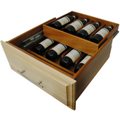Double Decker Wine Drawer Box, Soft Maple, Customizable Sizes