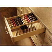 Spice and Knife Drawer Box, Baltic Birch or Soft Maple, Customizable Sizes