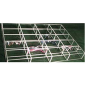 Custom Transparent Accessory Insert, 3 Bins & 3 Rows, 12'' to 18''W, Up to 22''D x 2-1/2 ''H