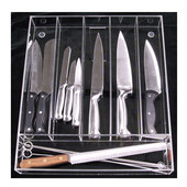 Custom Transparent Cutlery Insert, For Drawer Widths 16-1/16'' to 19''
