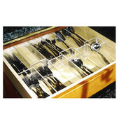 Custom Transparent Flatware Insert, For Drawer Widths 9-1/16'' to 14''