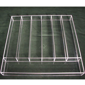 Transparent Acrylic Cutlery Insert, for drawer width 21-1/2''