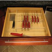 Transparent Acrylic Premier Cutlery Insert, 18-1/2''W x 18''D x 2-3/8''H
