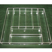 Transparent Acrylic Utensil Insert, for drawer width 18-1/2''