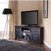 60'' Corner TV Stand in Black, 59-3/4''W x 23-1/2''D x 26-1/2''H